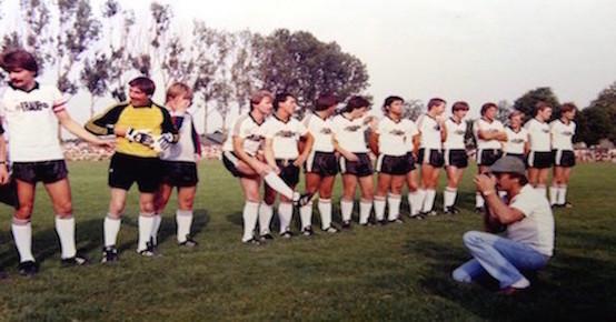 FVF Mannschaft beim Spiel gegen den FC Bayern 1983